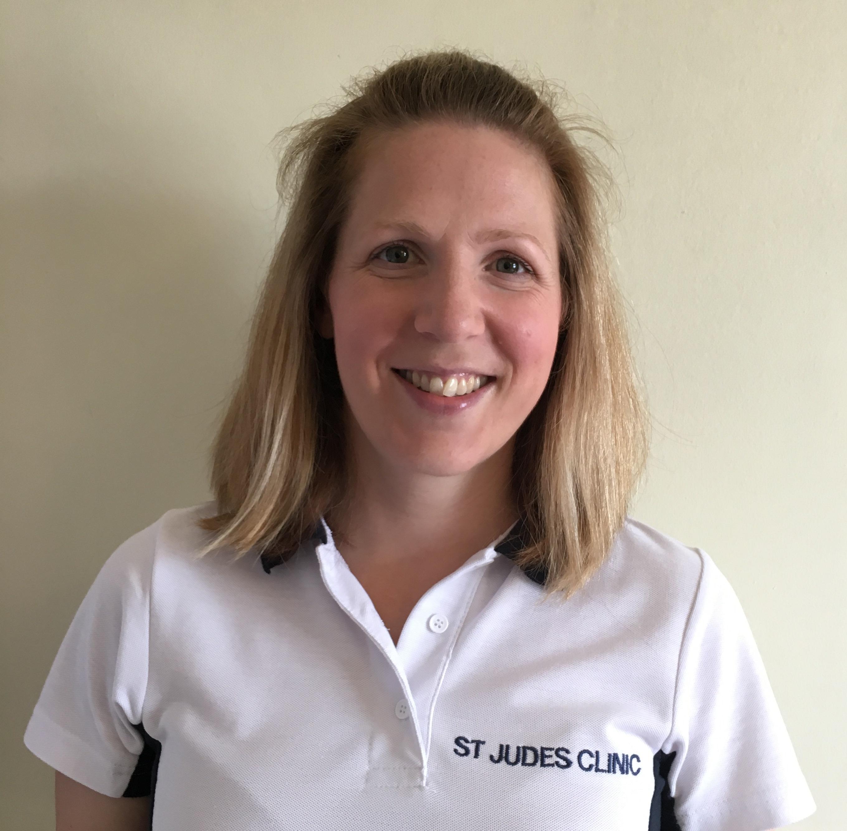 Jo Dyson new physiotherapist at St Judes Clinic Leighton Buzzard
